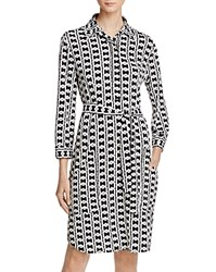 Laundry By Shelli Segal Belted Shirt Dress Black