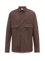 Raey Chest Pocket Brushed Cotton Twill Shirt Brown