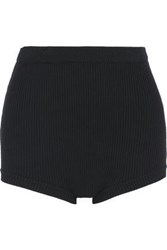 Red Valentino Ribbed Knit High Rise Briefs Black