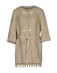 Monica Bianco Full Length Jackets Sand