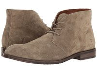 Frye Sam Chukka Light Grey Soft Oiled Suede Men's Lace Up Boots Tan