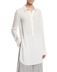Mcq By Alexander Mcqueen Long Sleeve Tunic Blouse Ivory