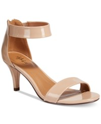 Style And Co Paycee Two Piece Dress Sandals Only At Macy's Women's Shoes Nude