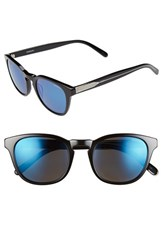 Men's Randolph Engineering 'Ashby' 50Mm Sunglasses Black Blue Flash Mirror