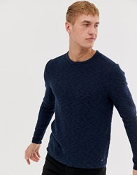 Only And Sons Knitted Jumper In Navy Blue