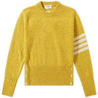 Thom Browne Classic Donegal Short Crew Knit Yellow