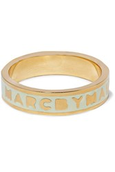 Marc By Marc Jacobs Gold Tone Enamel Ring Mint