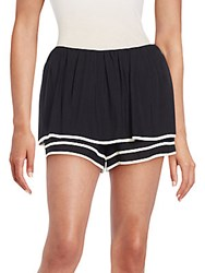 See By Chloe Multi Layer Puff Shorts Black