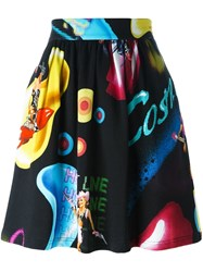 Jeremy Scott 'Cosmic Pin Up Girl' Skirt Black