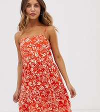 New Look Tiered Sundress In Red