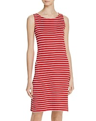 Barbour Dalmore Knit Shift Dress Red White
