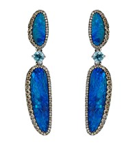 Annoushka Opal And Diamond Earrings Female Blue
