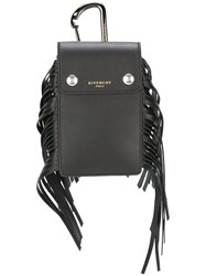 Givenchy Fringed Coin Purse Black