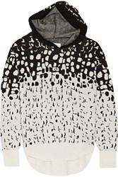 Maison Martin Margiela Jacquard Knit Wool Blend Hooded Top Black