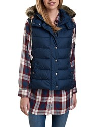 Barbour Beachley Hooded Gilet French Navy