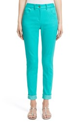 Women's St. John Collection 'Bardot' Capri Jeans Seafoam
