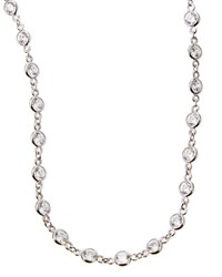 Cubic Zirconia By The Yard Necklace 36'L Fantasia By Deserio Silver