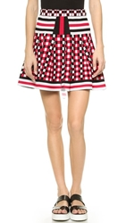 Endless Rose Checkered Flounce Skirt