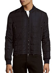 Valentino Long Sleeve Quilted Jacket Black