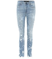 Alexander Wang Whiplash High Waisted Jeans Blue