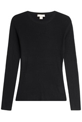 Michael Kors Ribbed Cashmere Pullover Blue