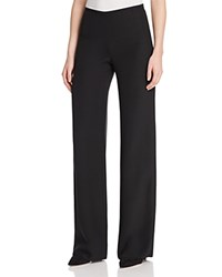 Armani Collezioni China Wide Leg Pants Black