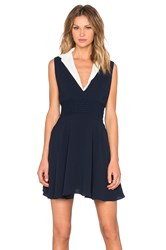 The Kooples Collared Dress Navy