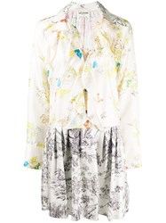 Zadig And Voltaire Contrast Print Silk Dress 60