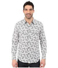 Rock And Roll Cowboy Long Sleeve Snap B2s5428 Grey Men's Long Sleeve Button Up Gray