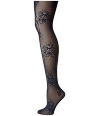 Wolford Net Lace Tights Midnight Hose Navy