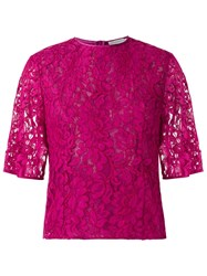 Martha Medeiros Lace Blouse Pink And Purple