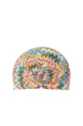 Missoni Mare Turban In Blue Pink Abstract Blue Pink Abstract