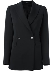 Tagliatore Double Breasted Blazer Black
