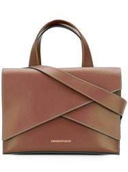 Emporio Armani Satchel Crossbody Bag Brown