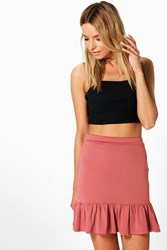 Amelle Ruffle Hem Mini Skirt