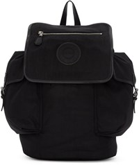 Versus Black Nylon Logo Flap Backpack