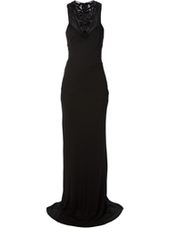 Roberto Cavalli Full Length Dress Black