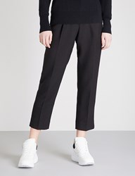 Moandco. Tapered Leg Woven Trousers Black