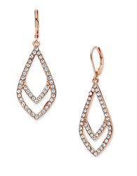 Anne Klein Double Drop Earrings Rose Gold