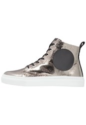 Mcq By Alexander Mcqueen Chris Hightop Trainers Steel Black Silver