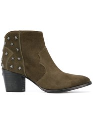 Zadig And Voltaire Joe Stars Boots Green