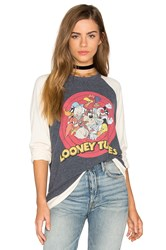 Lauren Moshi Buffy Boyfriend Pullover Blue