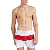 Saturdays Surf Nyc Grant Striped Swim Trunks White