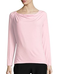 Lord And Taylor Iconic Fit Drape Front Blouse Sweet Kiss