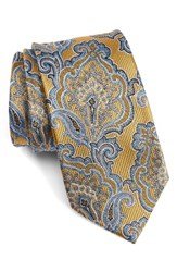 Nordstrom Men's Men's Shop Paisley Silk Tie Yellow