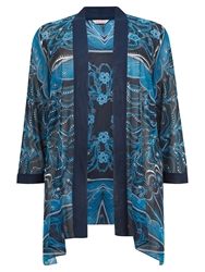 Windsmoor Draped Pearls Kimono Dark Blue