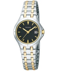 Pulsar Women's Dress Sport Two Tone Stainless Steel Bracelet Watch 24Mm Pxt829