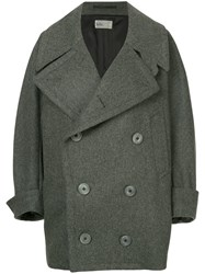 Kolor Double Breasted Coat Grey