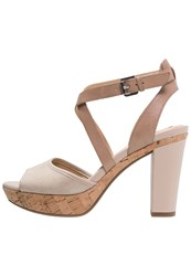 Geox Heritage Platform Sandals Light Taupe