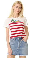 Marc Jacobs Classic Stripe Tee Red Multi